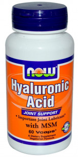 NOW Hyaluronic Acid 50мг + MSM (60 кап)