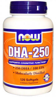 NOW DHA 250 мг (120 кап)
