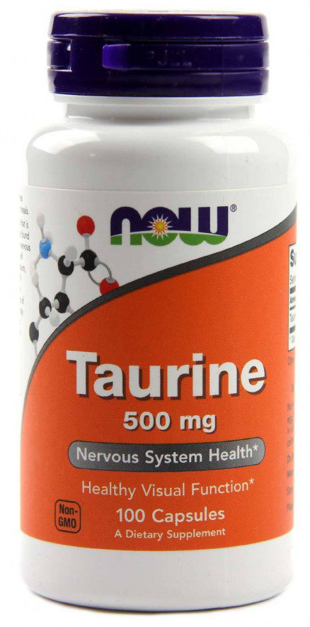 NOW Taurine 500 мг (100 кап)