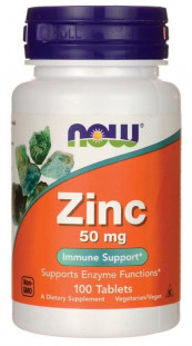 NOW Zinc Gluconate 50 мг (100 таб)