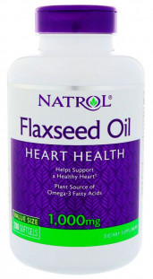 Natrol Omega-3 Flaxseed Oil 1000 мг (200 кап)