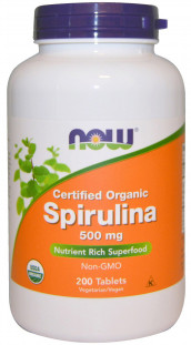 NOW Spirulina 500 мг (200 таб)