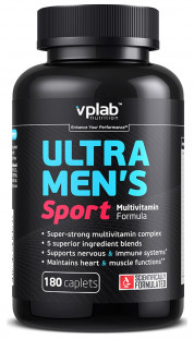 VPLab Ultra Men's Sport Multivitamin Formula (180 капсул)